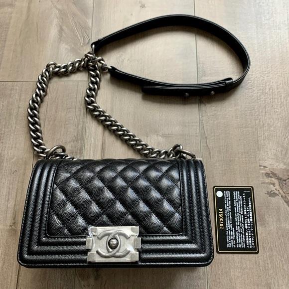 CHANEL Handbags - Chanel boy small caviar leather- New